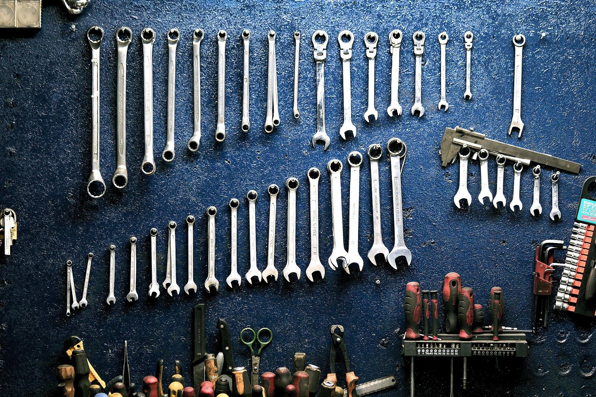 整理整頓された工具